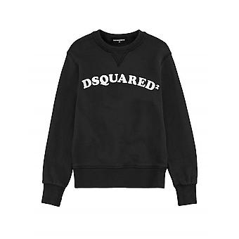 DSQUARED2 Kids Black Curved Logo Sweatshirt