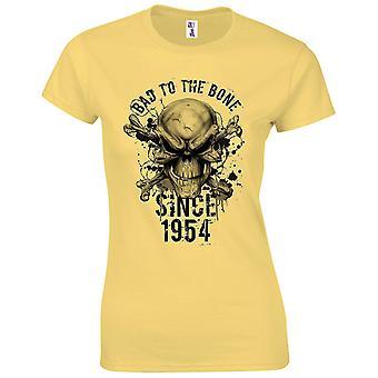 65. Geburtstagsgeschenke für Frauen ihr Bad to the Bone 1954 T-Shirt