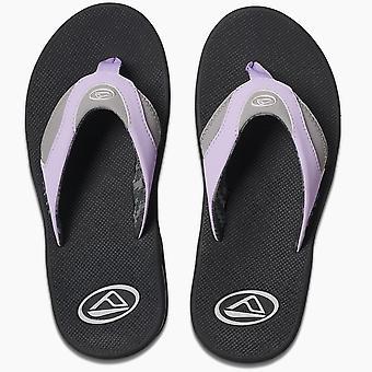 Mujer sandalias con destapador de arrecife ~ Fanning gris/púrpura