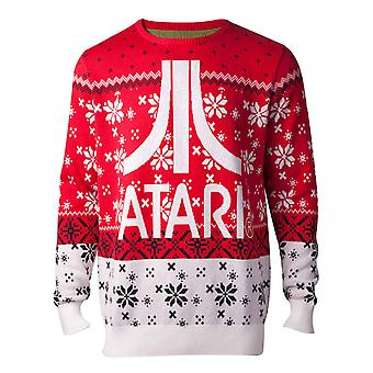 Atari Christmas Jumper Sweater Classic Logo new Official Gamer Mens Knitted