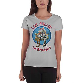 Breaking Bad T Shirt Los Pollos Hermanos Logo new Official Womens Skinny Fit