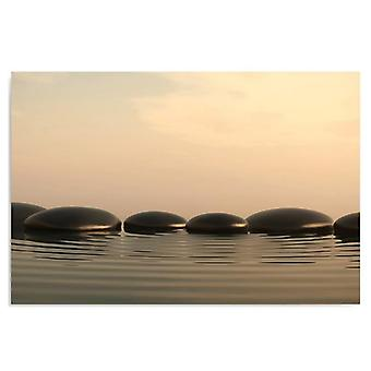 Canvas, foto op canvas, Zen Stones 5