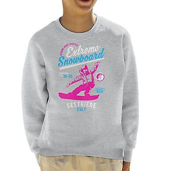 Extreme Snowboard '19 '20 Sestriere France Kid's Sweatshirt
