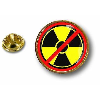 Kiefer Pines Pin Abzeichen Pin-Apos;s Metall kein Biohazard Symbol radioaktive Strahlung Kernkraft