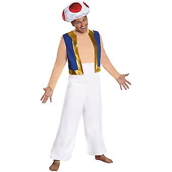 Toad Deluxe Nintendo Super Mario Bros Video Game Plumber Adult Mens Costume XL