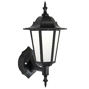 Saxby Lighting Evesham integrerad LED 1 ljus Utomhus vägg lykta matt svart texturerat, frostat IP44 78617
