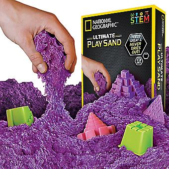 National Geographic Play Sand 900g Sand Castle Molds Purple