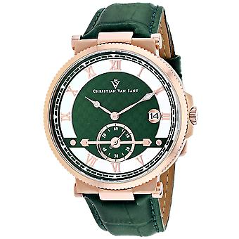 Christian Van Sant Men-apos;s Clepsydra Green Dial Watch - CV1705
