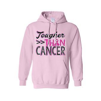 Unisex hoodie bröst cancer medvetenhet tuffare än cancer
