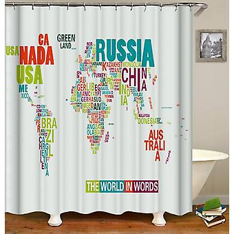 De wereld in woorden douche gordijn