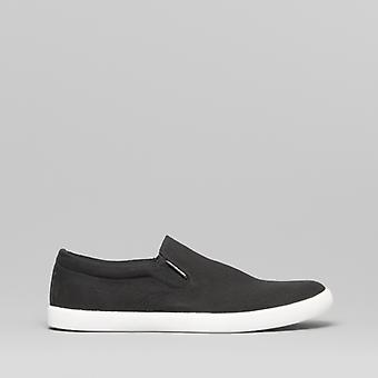 Jack & Jones Rowden Mens Canvas Deck Trainers Anthracite