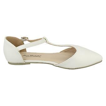 Anne Michelle Womens/Ladies T Bar Plain Flat Heel Sandals