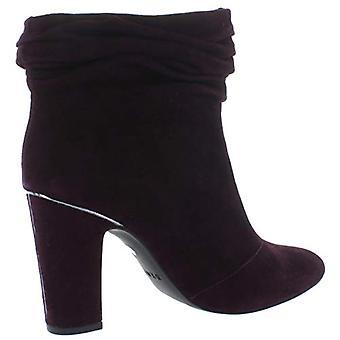 DKNY Mulheres Sabel Suede Ankle Booties Purple 8 Medium (B,M)