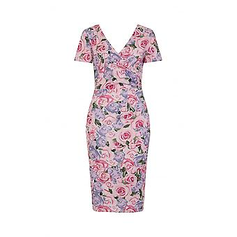 Collectif Vintage Women's Maria Country Garden Floral Pencil Dress