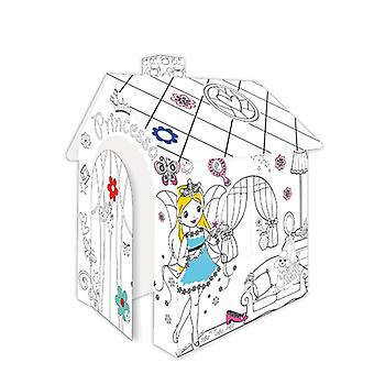 Mochtoys 11122 Malhaus Princess, Playhouse, Cardboard House with Door 78 x 67 x 99cm