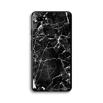 Google Pixel 3 XL Transparent Case (Soft) - Black Marble 2
