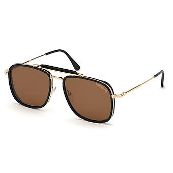 Lunettes de soleil Tom Ford Huck TF665 01E Shiny Black/Brown