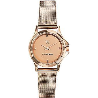 Katsella trendikäs Kiss TMG10060-04 - katsella nainen round steel kulta vaaleanpunainen