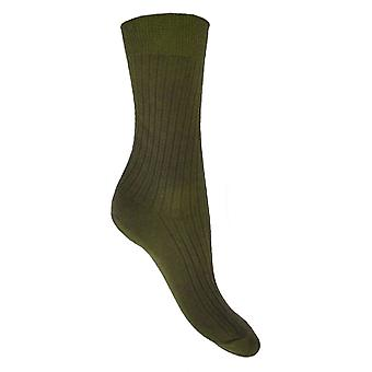 Socks Uwear  - Mens Short 100% Cotton Ribbed Socks (Pack of 12)
