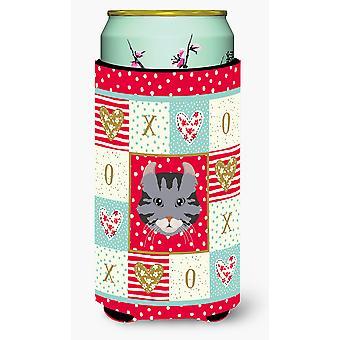 American Curl Cat Tall Boy Beverage Insulator Hugger