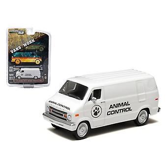1976 Dodge B-100 Van Animal Control Hobby Exclusive 1/64 Diecast Car Model by Greenlight