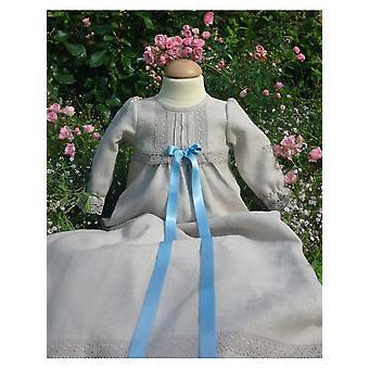 Abito battesimale Grace Of Sweden - Abito battesimo di lino con dettagli raffinati