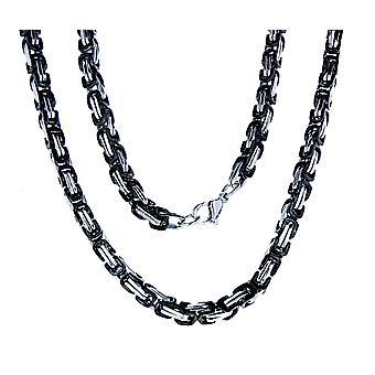 Königskette 4,5 mm - schwarz-silbern - edelstahl
