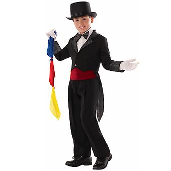 Magician Magic Show Circus Tuxedo Book Week Boys Costume Tailcoat & Scarves