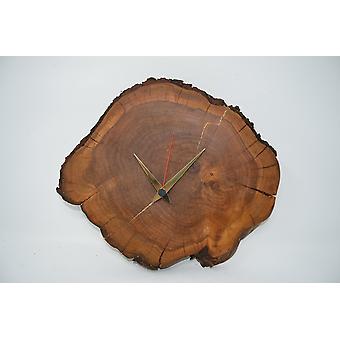 Houten muur klok houten klok klok 30.5x26 cm azijnboom gesneden klok houten klok handgemaakte handgemaakthandgemaakthandgemaakt handgemaakte handgemaakte gemaakt in Oostenrijk cadeau idee houten decoratie