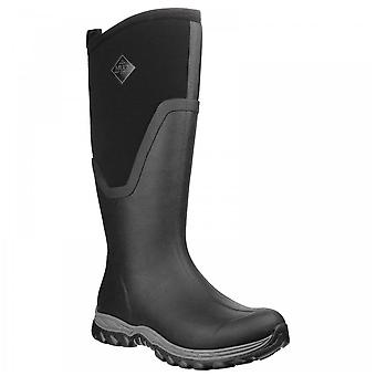 Muck Boots Ladies Arctic Sport Ii Black + Black Fleece Lined Tall Wellington Boots