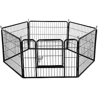 6 Panel Dog Pen Puppy Playpen Cat Rabbit Foldable Playpen Indoor/Outdoor 60cmHigh