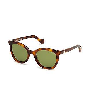 Moncler ML 0119 52N Dark Havana/Green Sunglasses