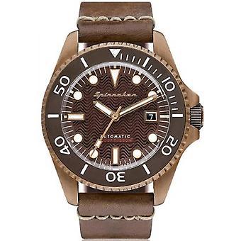 Horloge Spinnaker SP-5060-01 - Tesei brons armband bruin dial bruin man stalen behuizing leer