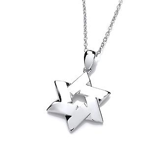 David Deyong Sterling Silver Modern Star Of David Necklace