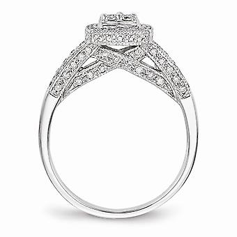 14k ポリッシュゴールドダイヤモンドブライダル婚約指輪ジュエリーギフト女性のための - .49 dwt