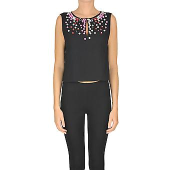 Nenette Ezgl266062 Women's Black Polyester Top