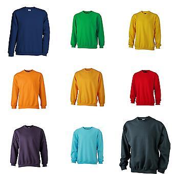James and Nicholson Unisex Round Heavy Sweatshirt