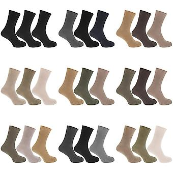 Mens Casual Non Elastic Bamboo Viscose Socks (Pack Of 3)