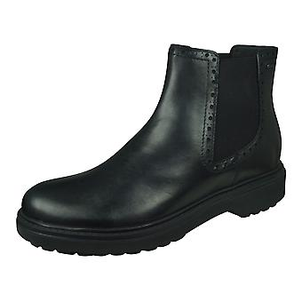 Geox D Asheely NP ABX Womens Leather Ankle / Chelsea Boots - Preto