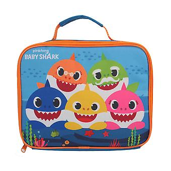 Pinkfong Baby Shark Insulated Lunch Bag Box Blue Back to School Kids