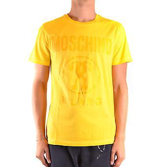 Moschino Ezbc015148 Men's Yellow Cotton T-shirt