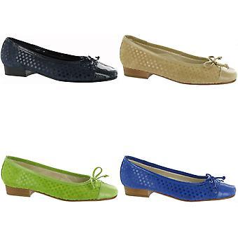 RIVA ANDROS SUEDE dames ballerina's / vrouwen/dames instapper schoenen