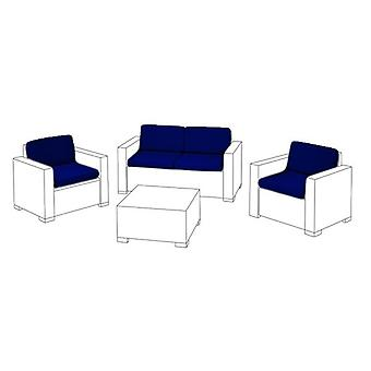 Blauwe 8pc zitkussen set voor Keter Allibert Californië sofa set