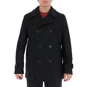 Comme Des Garçons Shirt W271631 Men's Black Wool Coat
