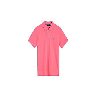 Gant Pique SS Rugger Pink Rose