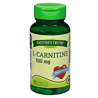 Nature's truth l-carnitine, 500 mg, dietary supplement, capsules, 60 ea