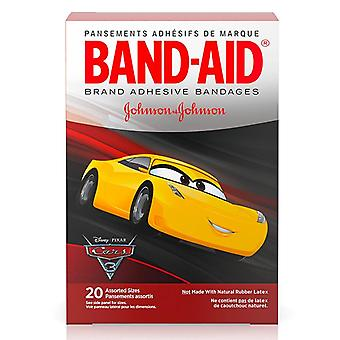 Band-aid children's bandages, disney cars, assorted, 20 ea