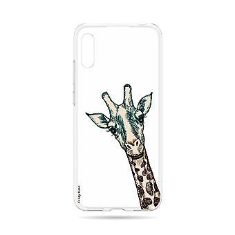 Skrov för Huawei Y6 2019 Flexibel Giraffhuvud