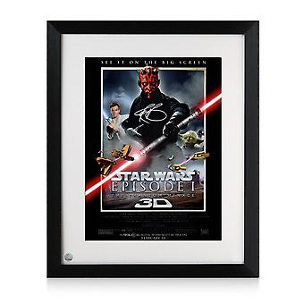 Darth Maul Underskrevet Star Wars Plakat: The Phantom Trussel indrammet