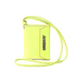 Jacquemus 205ac2320562220neonyellow Men's Yellow Leather Wallet